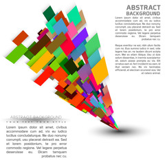 Abstract futuristic shape design