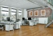 Leinwanddruck Bild - modernes Büro im Loft