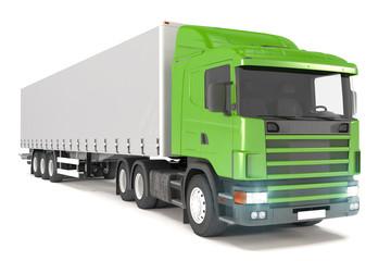 cargo truck - green - shot 19