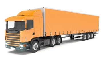 cargo truck - orange - shot 21