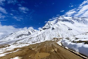 The way forward snow mountai, in Tibet of China
