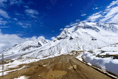 Poster The way forward snow mountai, in Tibet of China