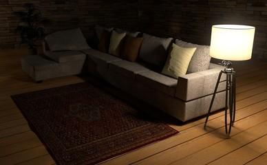 Sofa, Couch, Wohnzimmer