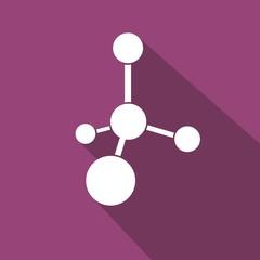 Icono molécula morado sombra