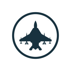 fighter airplane icon