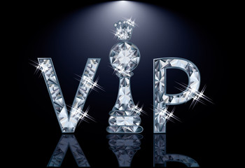 Diamond VIP chess card , vector illustration