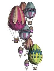 Eggs balloons