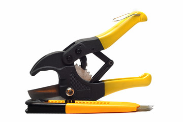 large pliers for pipes and clerical than white