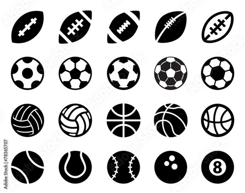 Fotobehang Sportwinkel Sport Balls