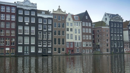 Amsterdam with traditional canal houses