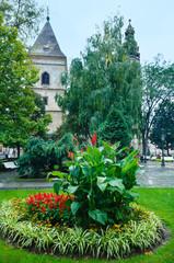 Kosice City autumn view