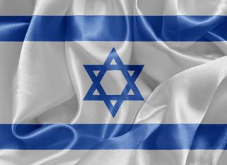Israeli satin flag
