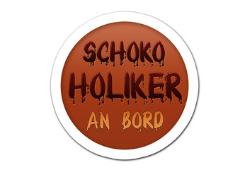 Schokoholiker an Bord - Sticker