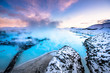 canvas print picture - The famous blue lagoon near Reykjavik, Iceland