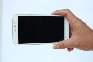 Smart phone on white background.