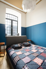 Bedroom interior inside loft space