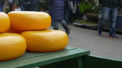 Cheese at the flower market in Amsterdam