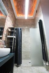 Designed, small bathroom