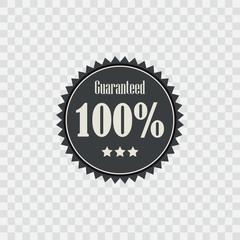 badge 100 Percent Guaranteed.