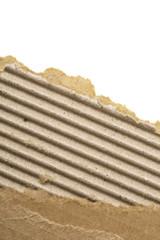 ripped, corrugated cardboard sheet