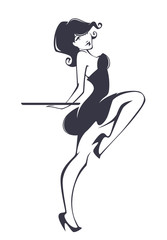 pinup girl for your menu
