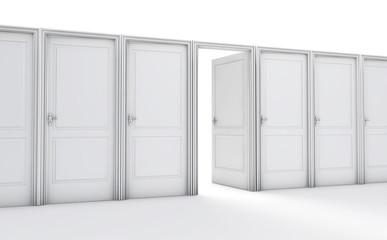 Karriere, Entscheidung, Möglichkeit mit Türen