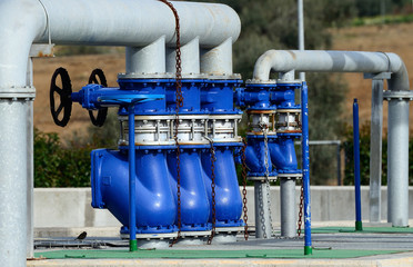 water treatment plant - closeup