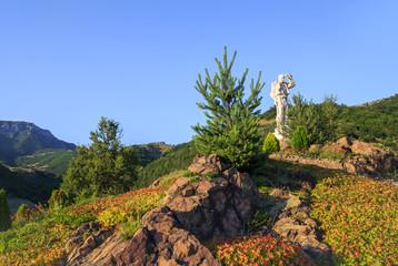 """Santa Yotzo watching"" monument, Bulgaria"