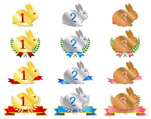 ウサギメダル(ナンバー入り)
