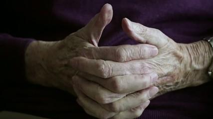 Old mans hands