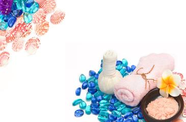 Beauty spa acessory with sea shell ,spa background