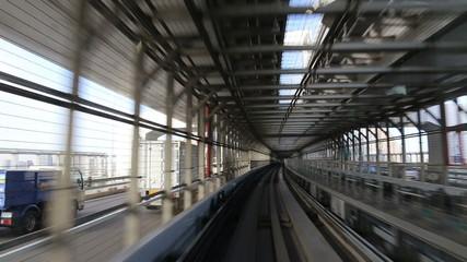 Monorail in Tokyo, Japan