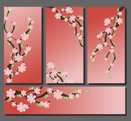 Blossom sakura invitation