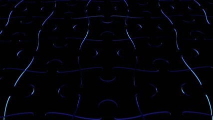 Computer generated puzzle floor with blue light