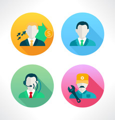 Icon for website and mobile application. Peoples.