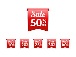 Sale % Off Labels