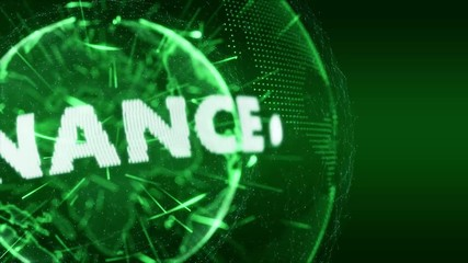 World News Banking Finance Intro Teaser green