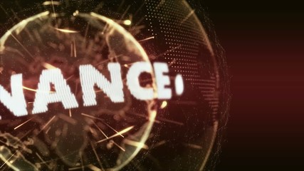World News Banking Finance Intro Teaser red orange