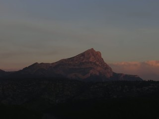 Burning mountain in Provence