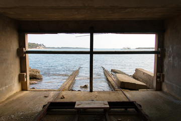 View from old boat house to the sea.