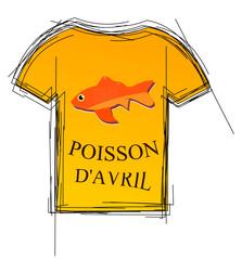 Tee Shirt poisson d'avril