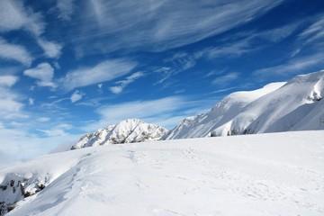 Alpine landscape in Bucegi mountains, Romania