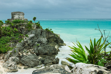 Temple of the wind in Tulum, Quintana Roo