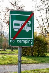 Schild Camping verboten