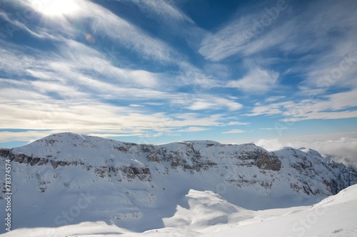 Poster winter mountains landscape