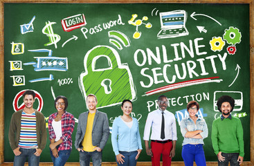 Online Security Protection Internet Learning Education Concept