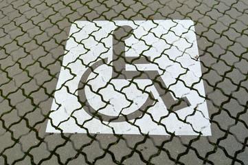 Piktogramm Rollstuhlfahrer Parkplatz