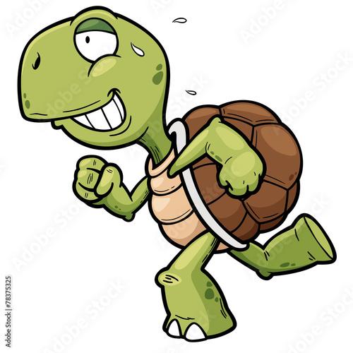 Vector illustration of Cartoon turtle - 78375325