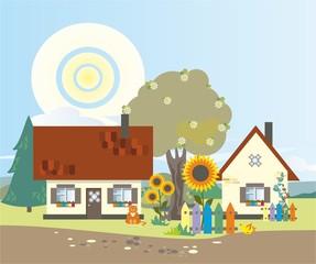 Деревня летом