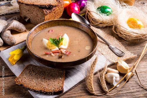 polish Sour rye soup